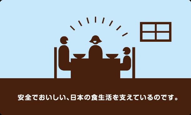 安全でおいしい、日本の食生活を支えているのです。