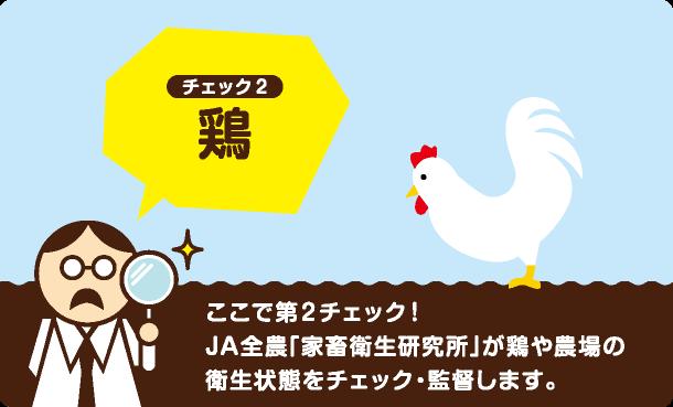 ここで第2チェック!JA全農「家畜衛生研究所」が鶏や農場の衛生状態をチェック・監督します。